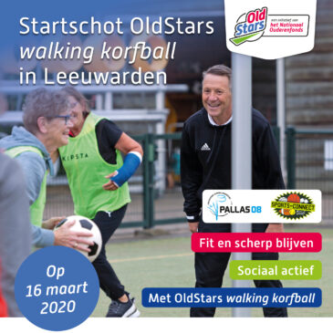 Startschot OldStars walking korfball in Leeuwarden!